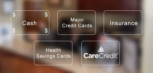 Types of financing spelled out on out-of-focus background